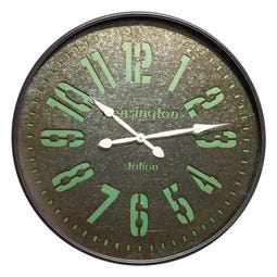 RELOJ NEGRO DM-METAL DECORACIÓN 80 X 7 X 80 CM