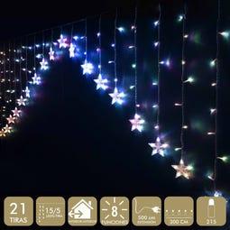 CORTINA ESTRELLAS 215 LED MULTICOLOR